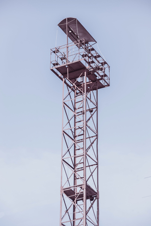 lookout tower on sky background 写真素材