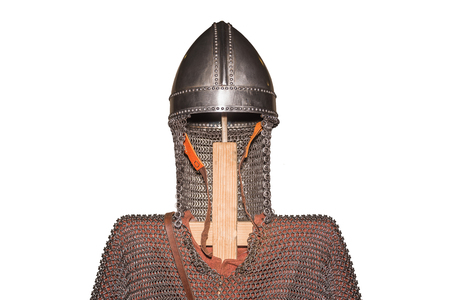 medieval armour isolate on white background protect from injury