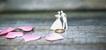 concept I love you, ballet, ballet figures on background, for website Stock Photo