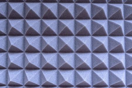 Texture. Foam rubber for noise suppression in the sound recording studio