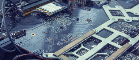 computer chip, repair and soldering of the scheme. development of new technologies
