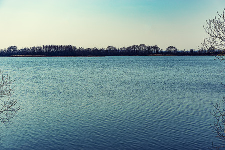 rivers, ponds natural landscape in summer and late spring Archivio Fotografico - 125134262
