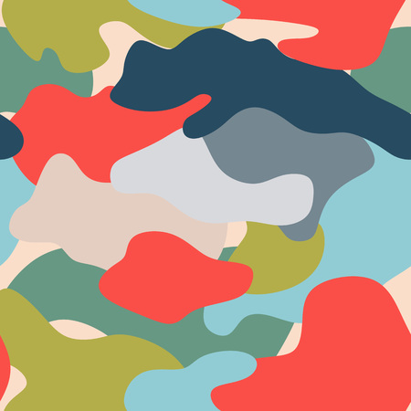 Bright camouflage seamless pattern