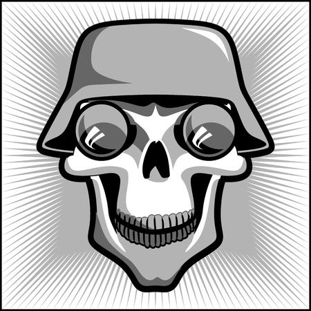 cráneo militar de la vendimia