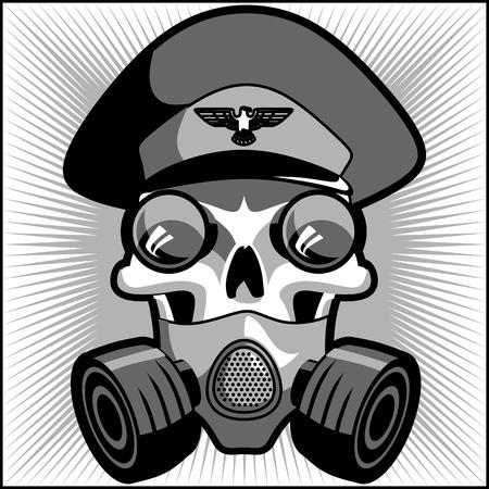Vintage military skull