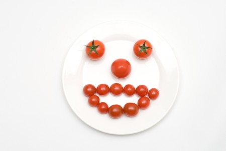 colord: Tomato face Stock Photo