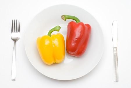 Paprika on the plate photo