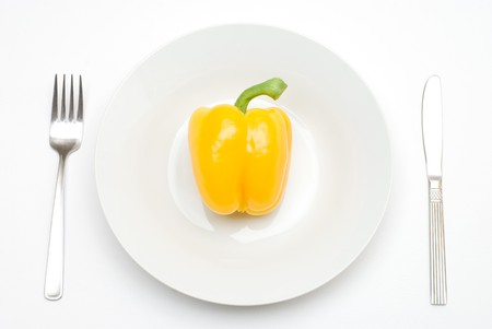 colord: Paprika on the plate