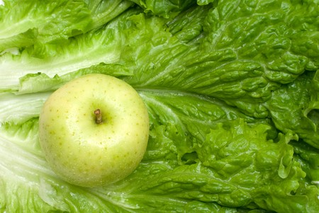 colord: Lettuce and green apple