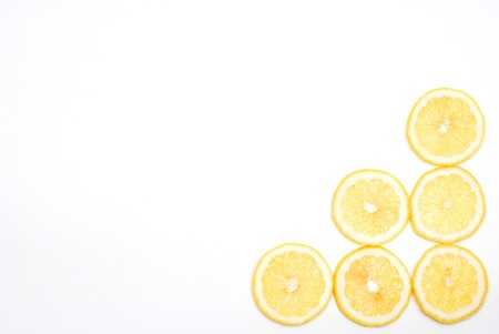 Slice lemon background photo