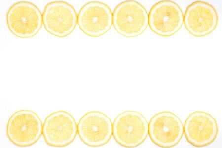Slice lemon frame photo