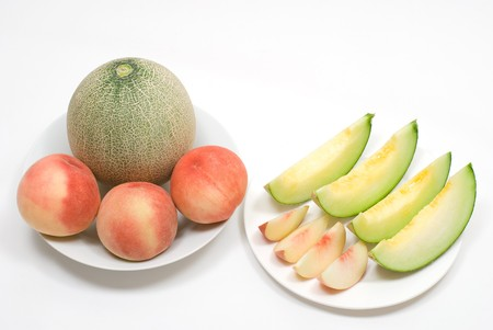 colord: Juicy fruits on a white background