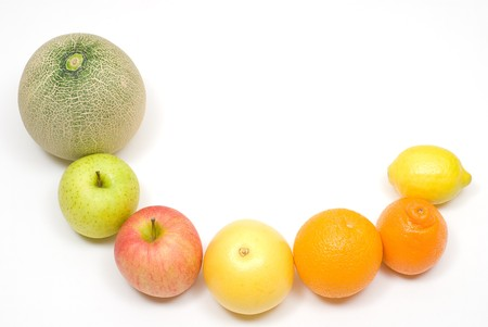 colord: Row of citrus and various fruits