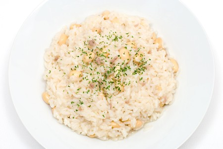 Risotto with soybeans and mincemeat Stock Photo - 8190883