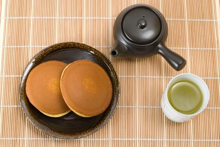 Japanese bean-jam pancake named Dorayaki photo