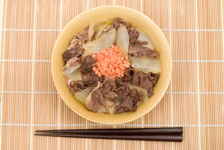 Japanese beef and rice bowl named Gyudon(or Gyumeshi) photo