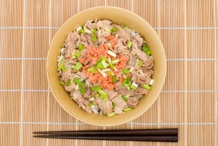 Japanese pork and rice bowl named Butadon photo