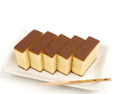 Japanese sponge cake dessert named Castella(Kasutera)