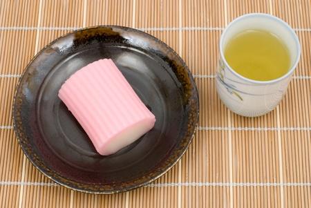 Japanese sweet rice cake dessert named Suama photo