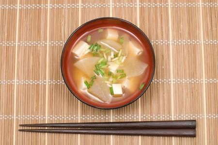 Miso soup with White radish and Tofu