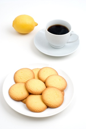 snack time: Cookie and coffee of the snack time