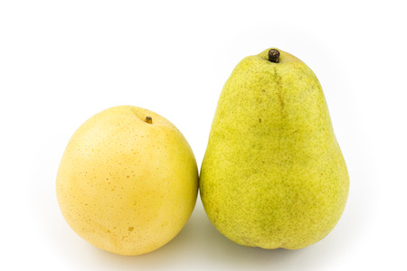 asian pear: Yellow asian pear and pear