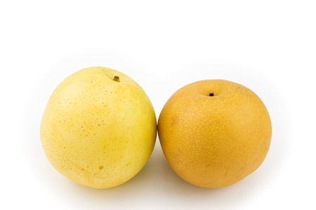 asian pear: Yellow asian pear and brown asian pear