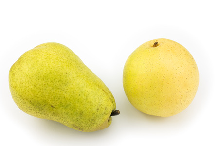 asian pear: Yellow asian pear and lying pear