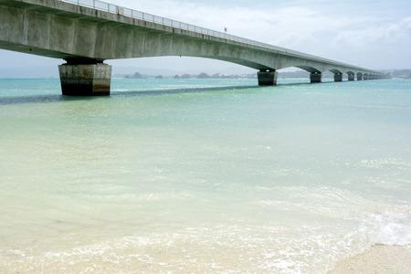 subtropics: Ponte che collega isola e luce subtropicali mare verde