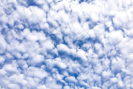 altocumulus: Blue sky filled with rows altocumulus cloud Stock Photo