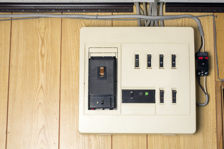 distribution board: Residential distribution board of main capacity up to 40 ampere in Japan Stock Photo