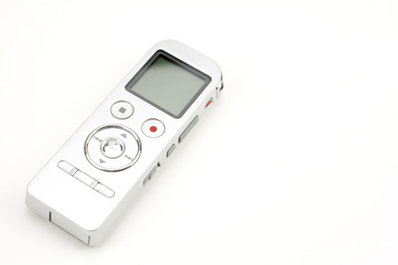Digital voice recorder isolated on white background 스톡 콘텐츠