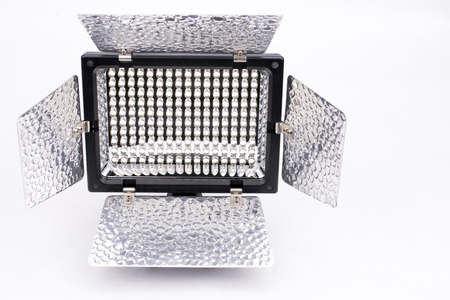 front facing: Rectangle 160 Diode panel LED light facing front on gray background