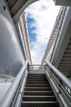 schlagbaum: Staircase climb which lies between the flyover under sky
