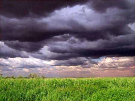 African thunderstorm landscape