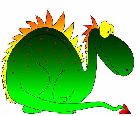 wetness: beautiful green dragon Stock Photo