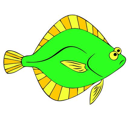 fluke: flounder Illustration