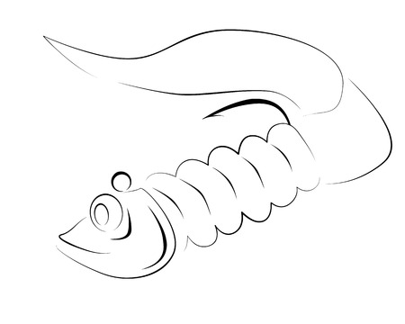 silicone: silicone fishing lure Illustration
