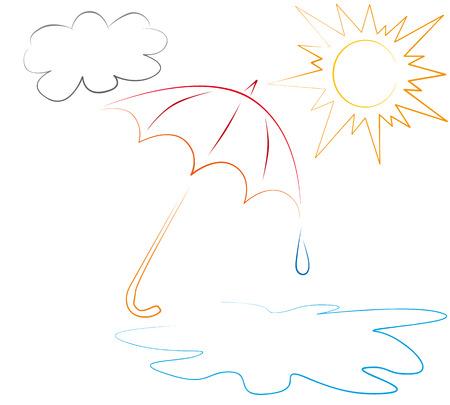 umbel: umbrella Illustration