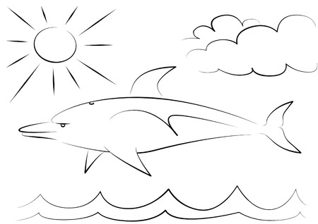 umbel: dolphin Illustration