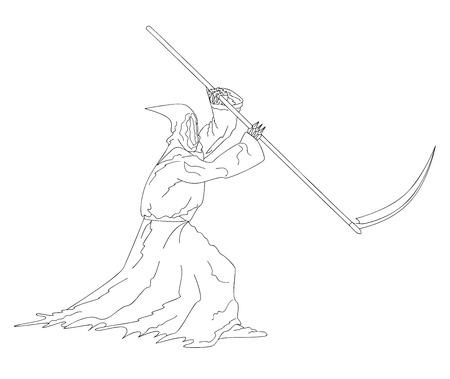 decease: death Illustration