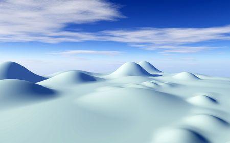 snowy panorama photo