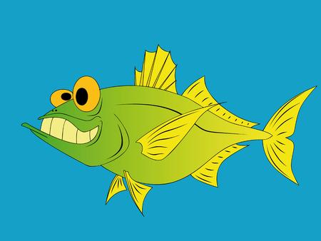 fluke: funny fish Illustration