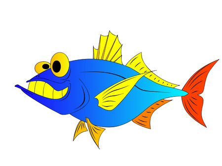 carp fishing: funny fish Illustration