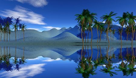 tropical landscape photo