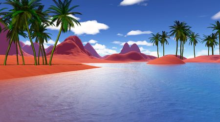 colorful tropical landscape Stock Photo - 8199102