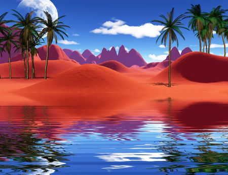 colorful tropical landscape