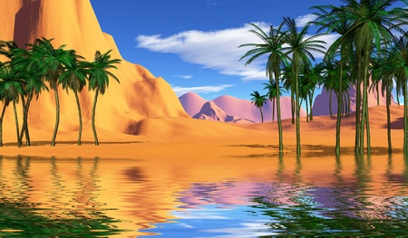 colorful tropical landscape Stock Photo - 8367043