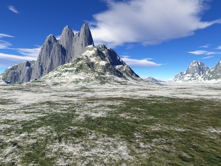 winter mountain photo