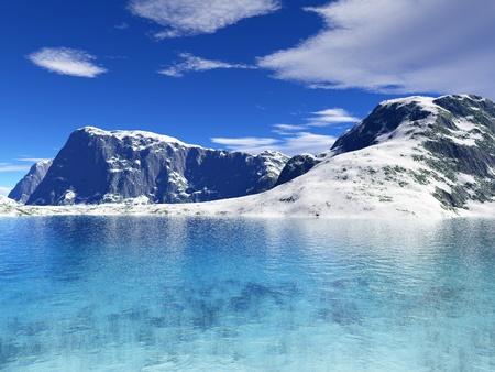 enero: paisaje invernal hermoso